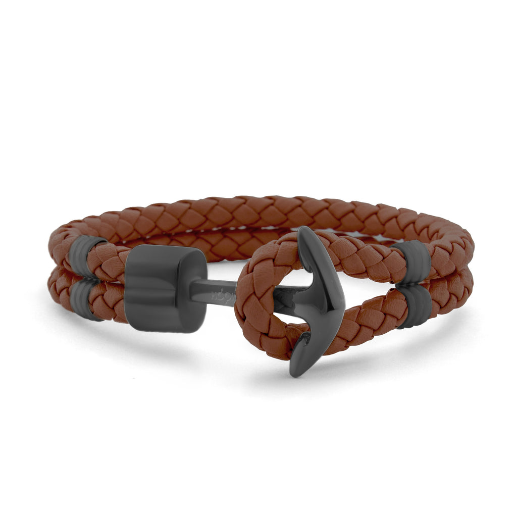 Dark Brown Braided Leather
