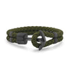 Army Green Braided Leather