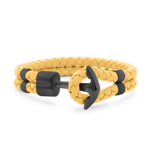 Funky Yellow Braided Leather