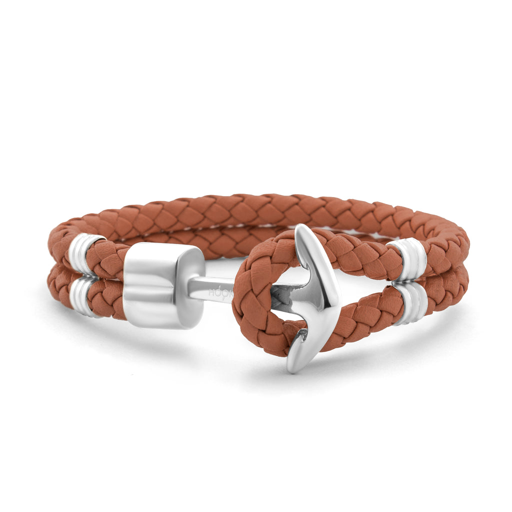Cognac Braided Leather