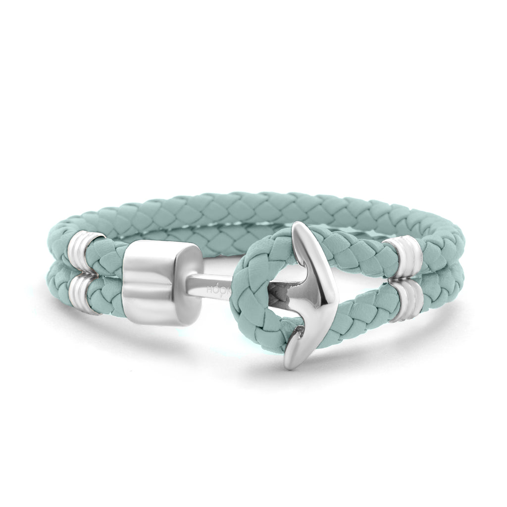 Mint Braided Leather