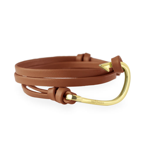 Hook Cognac Leather Wrap