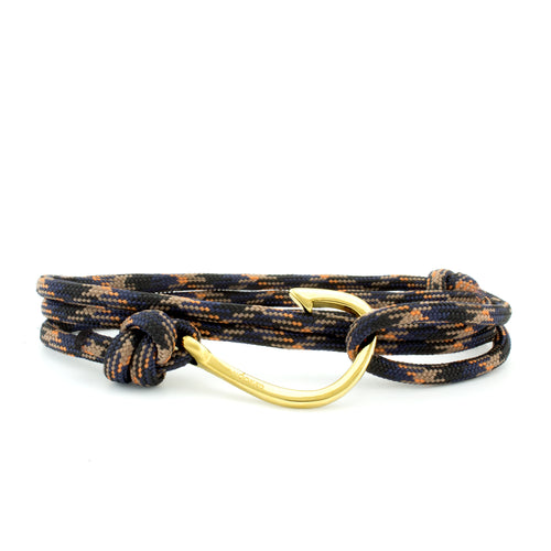 Hook Black/Orange/Blue Paracord Wrap