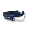 Hook Navy Blue Leather Wrap