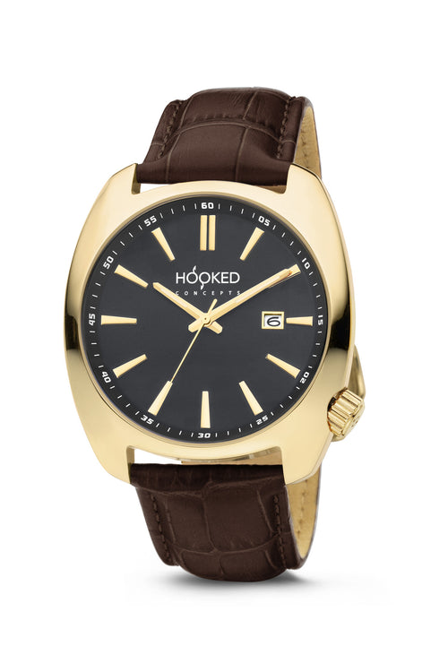 Gold Watch - Black Dial | Male 45mm