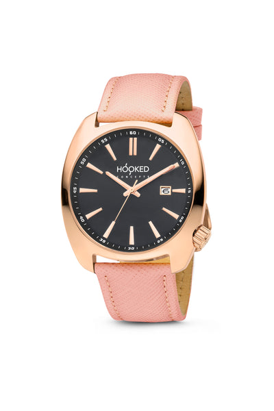 Rose Gold Watch - Black Dial | Female 38mm