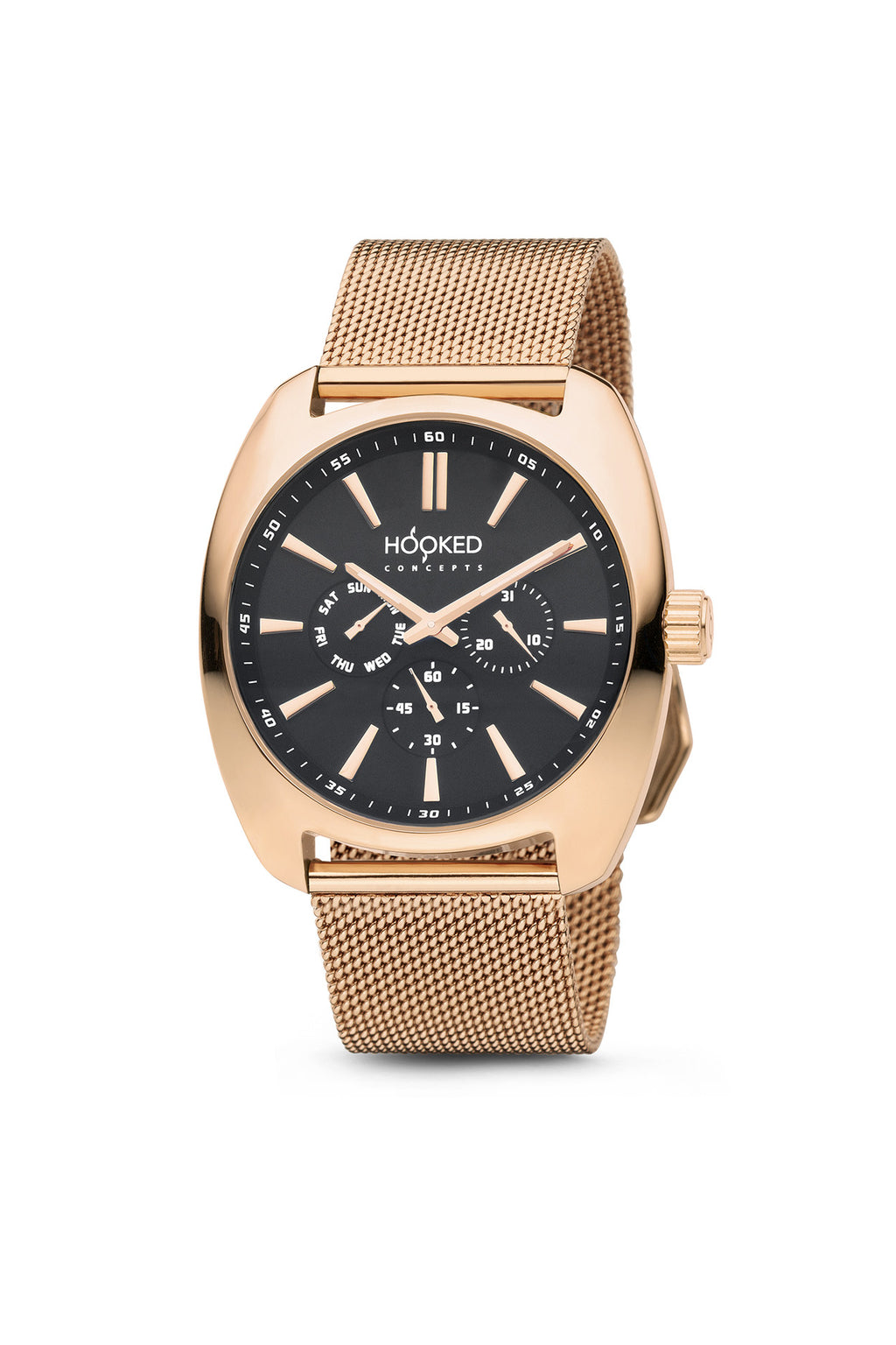 Rose Gold Watch - Black Dial | Master Date - 38mm