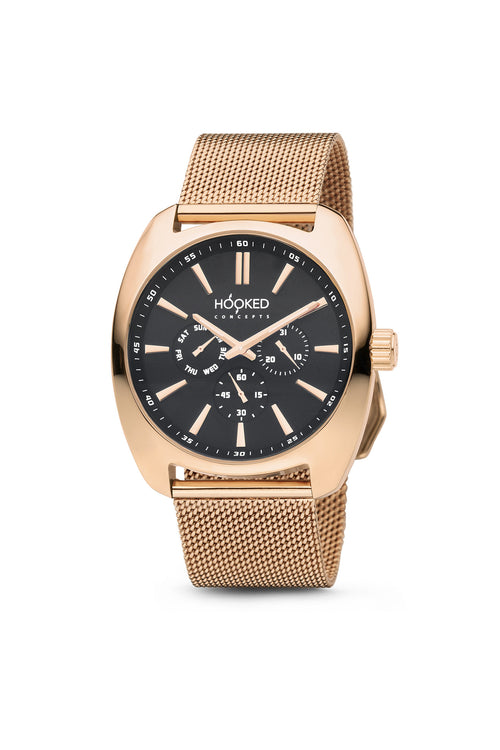 Rose Gold Watch - Black Dial | Master Date - Female 38mm