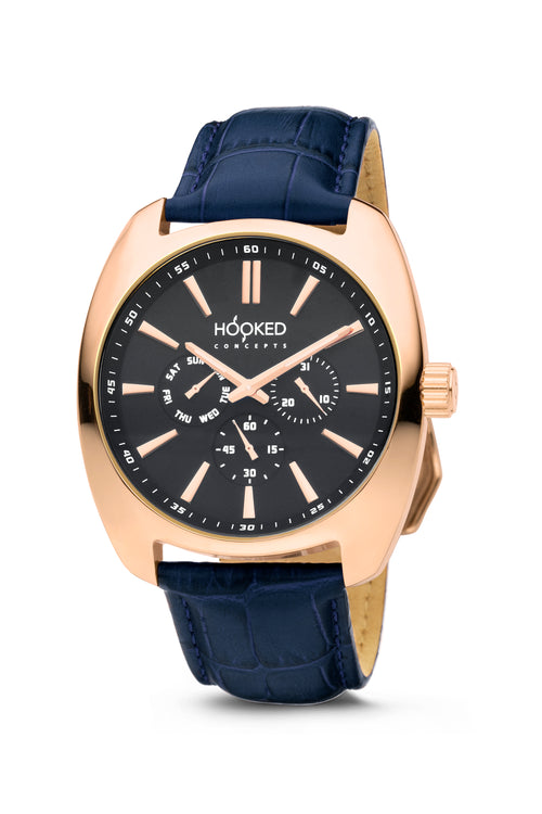 Rose Gold Watch - Black Dial | Master Date - Male 45mm