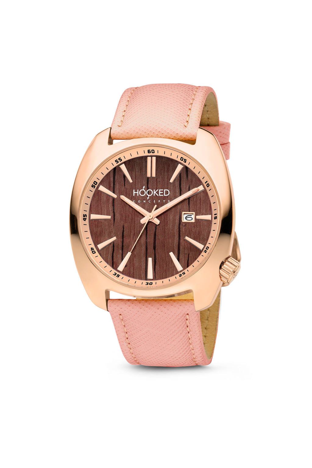 Rose Gold Watch - Boat Deck Dial | Minimal date 38mm