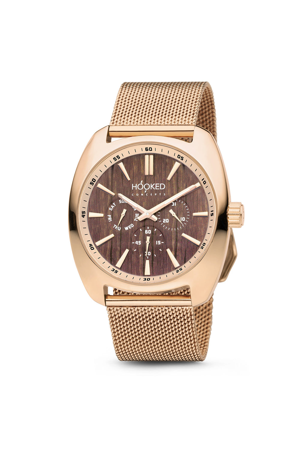 Rose Gold Watch - Boat Deck Dial | Master Date - 38mm