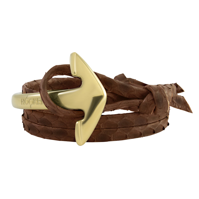 Gold | Special large Anchor | Snake leather