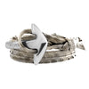 Silver | Special large Anchor | Snake leather