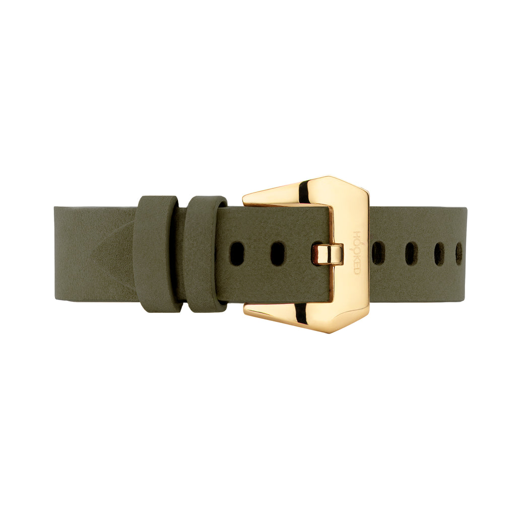 Nubuck Leather Strap | Olive Green - 22MM