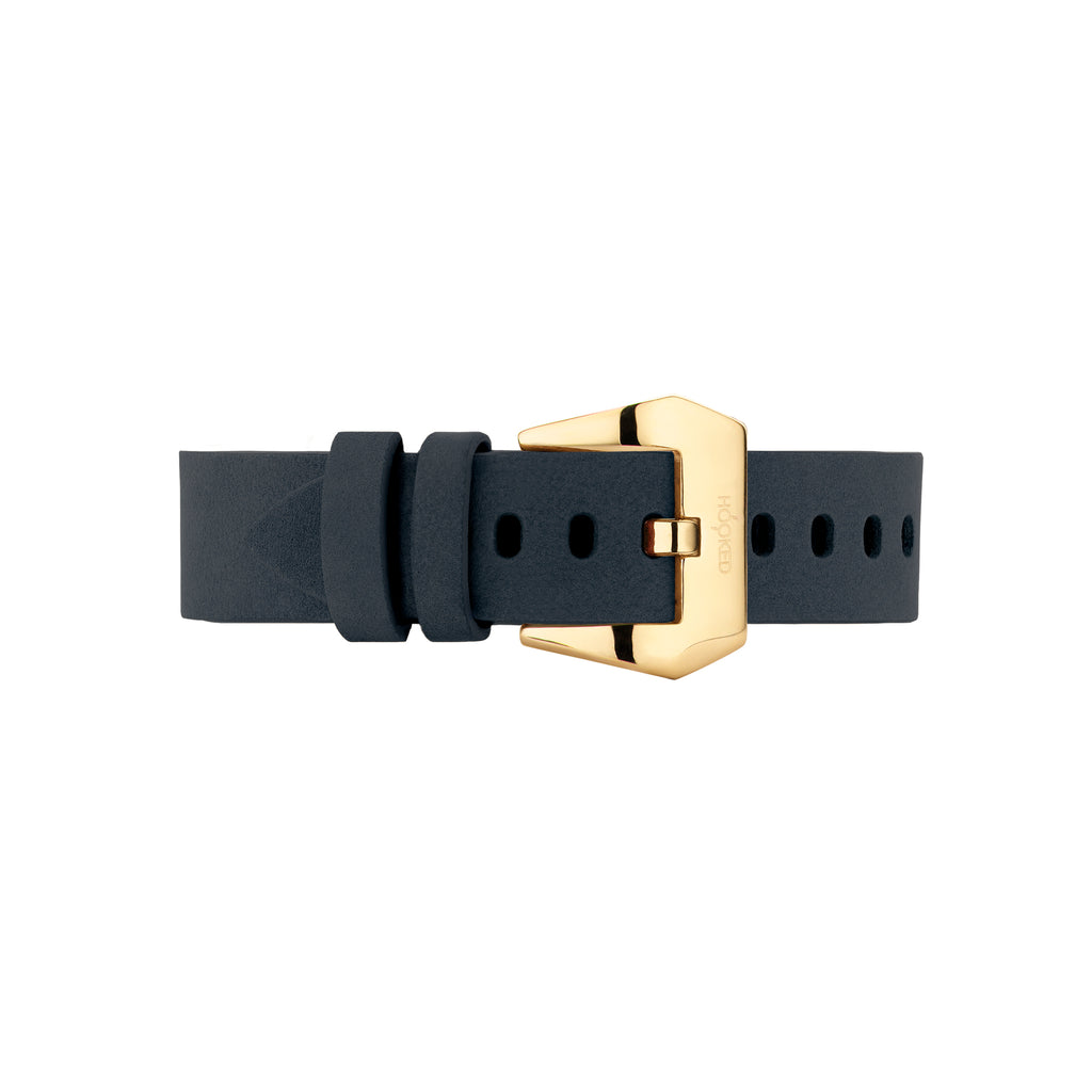 Nubuck Leather Strap | Navy Blue - 18MM