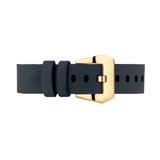 Navy Blue Nubuck Leather Strap | Male