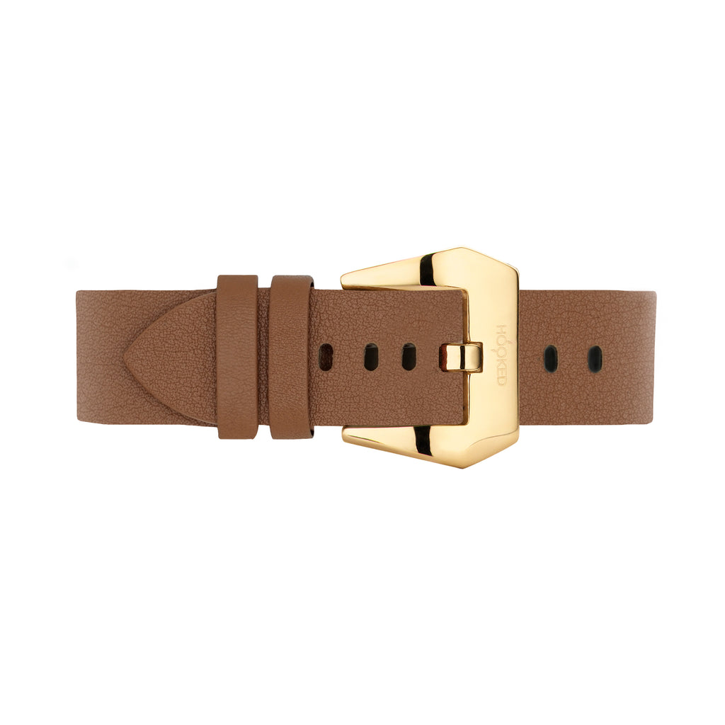 Needle grain Leather Strap | Cognac Brown - 22MM