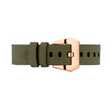 Olive Green Nubuck Leather Strap | Male