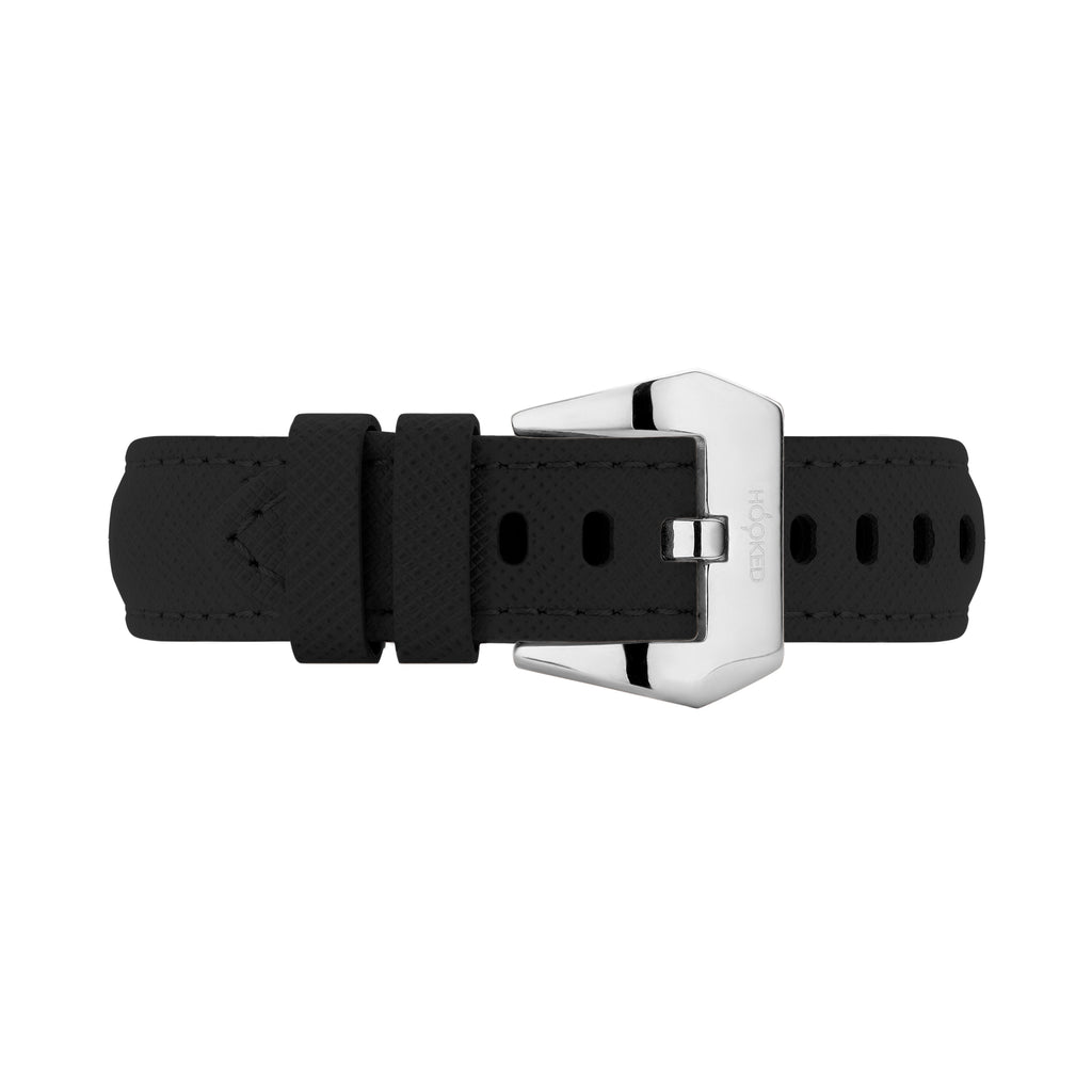 Cross Leather Strap | Black - 22MM