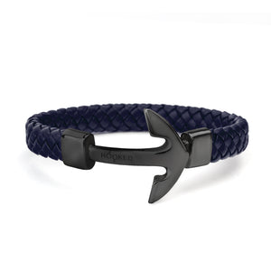 Matt Black Anchor | Fat Braided Leather