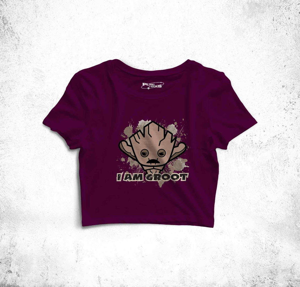 I Am Groot Fun Toon Crop Top