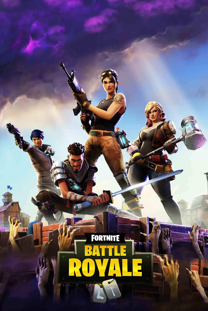 Fortnite Fever  Portrait Poster