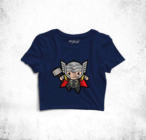 The Power Of Thor Fun Toon Crop Top