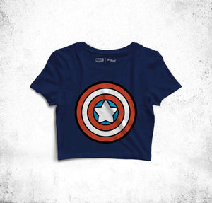 Captain America's Shield Crop Top