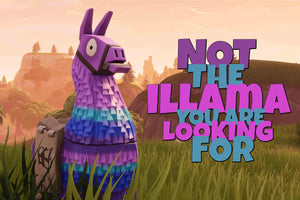 Not the Llama Poster