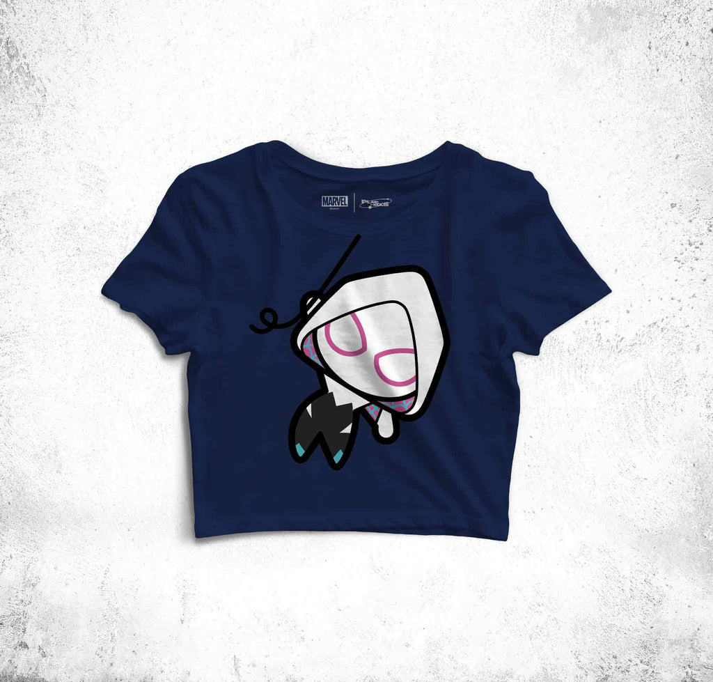 Spider Gwen Fun Toon Crop Top