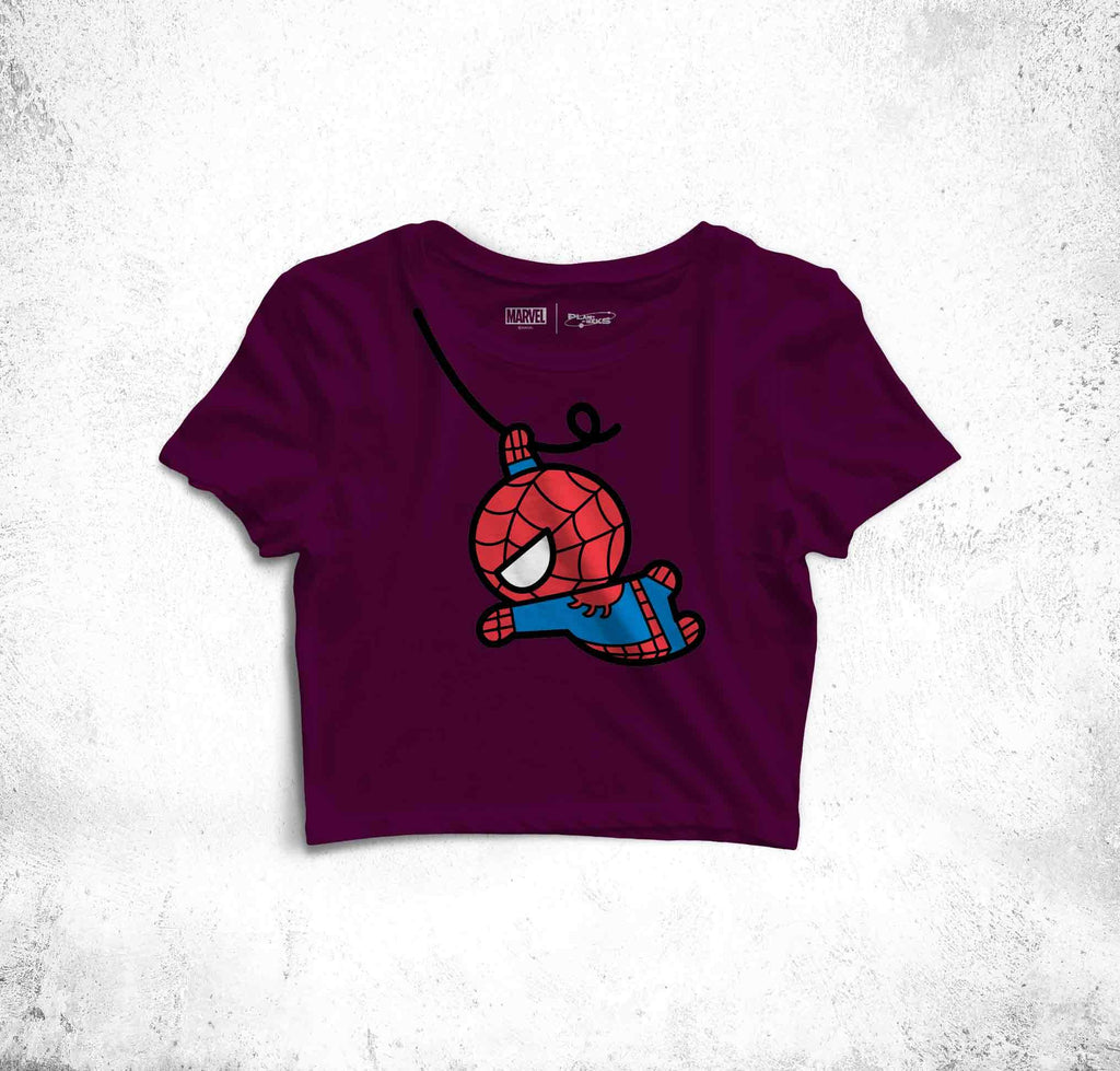 Spider Man In The Air Crop Top