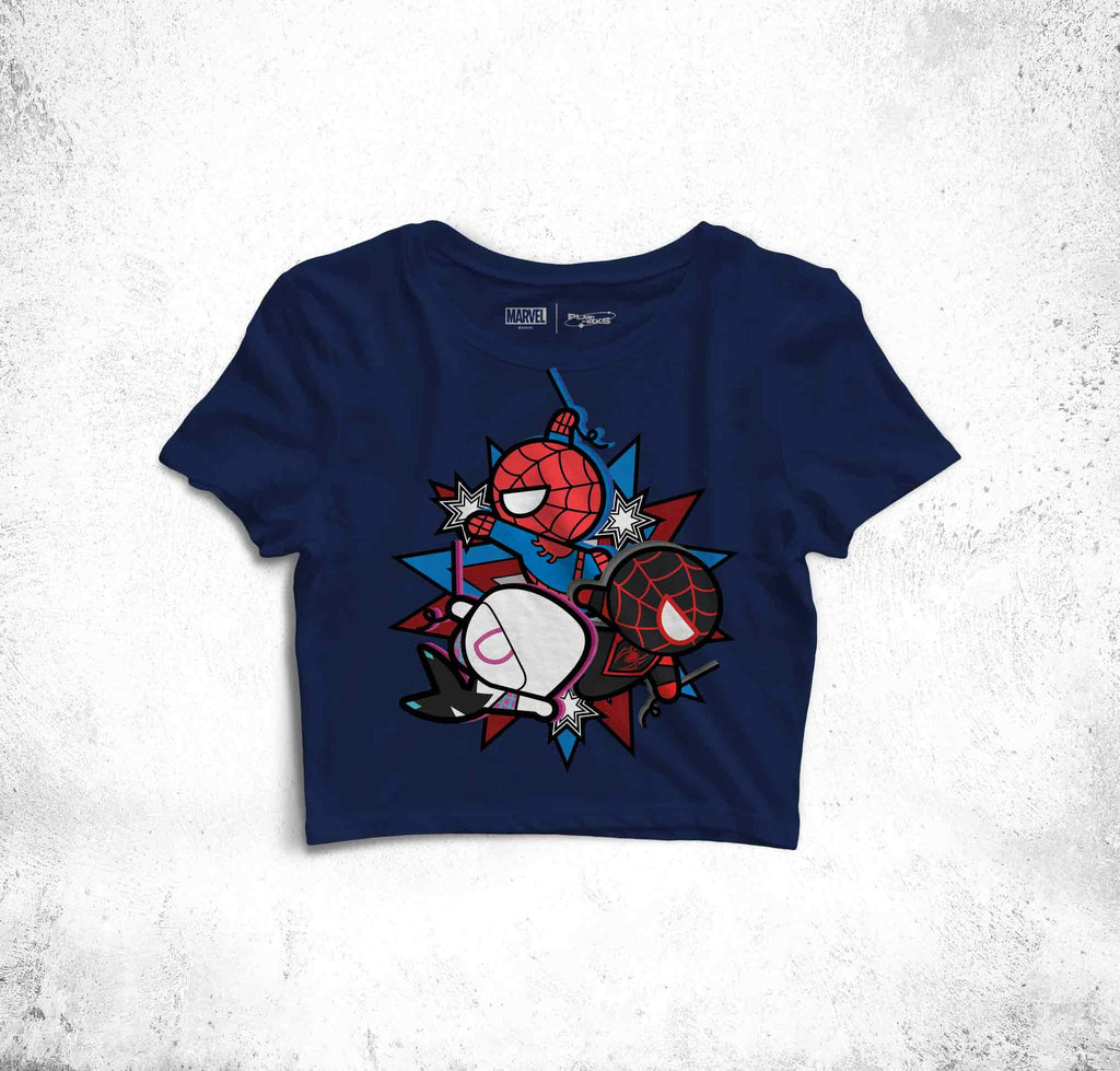 The Spidey Marathon Fun Toon Crop Top