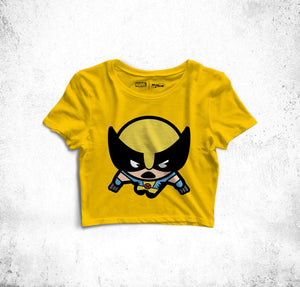 Wolverine Fun Toon Crop Top
