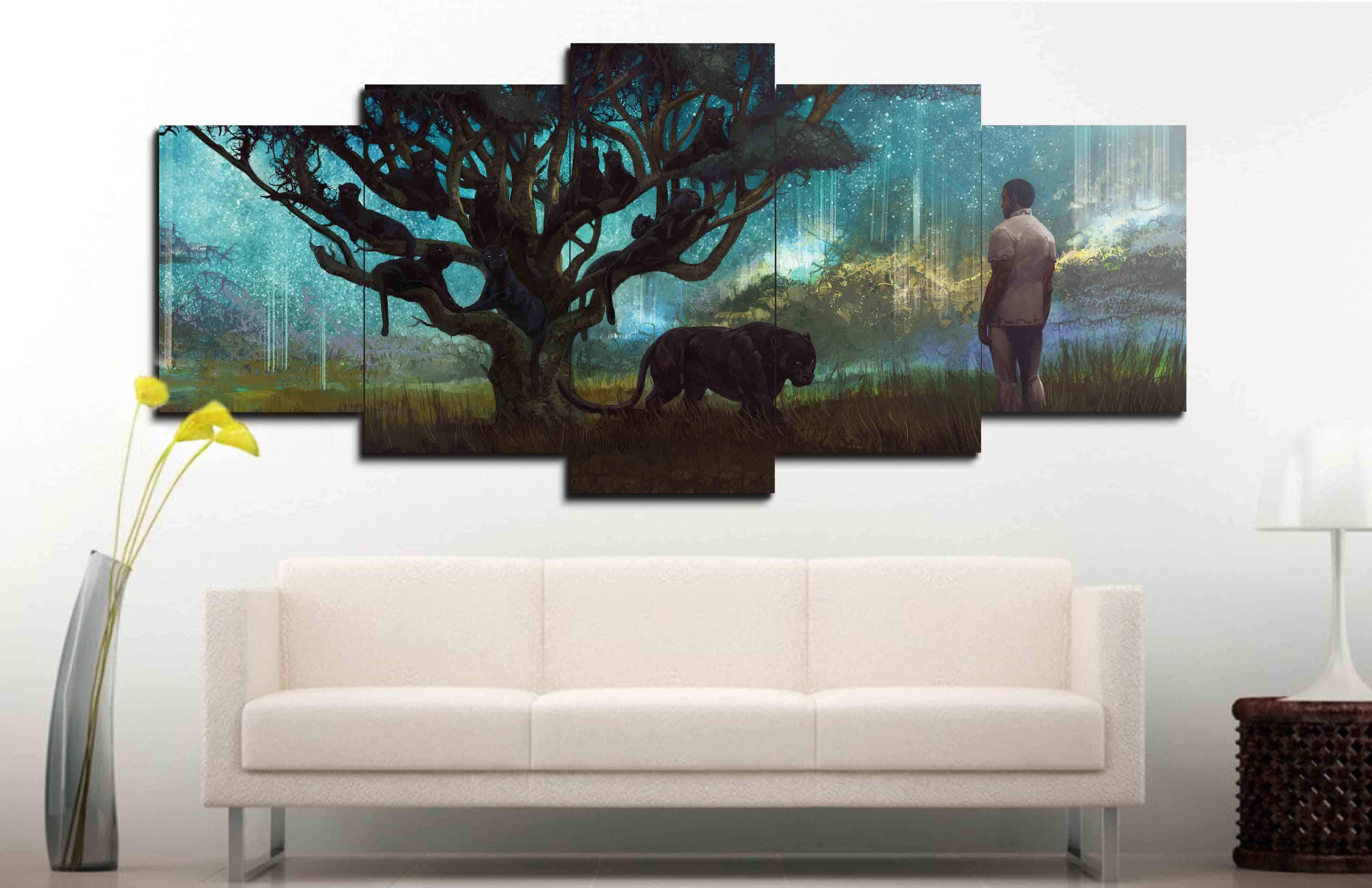 Black Panther Ancestral Plane Canvas Wall Art  With Frame
