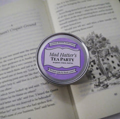mad hatter's tea party candle
