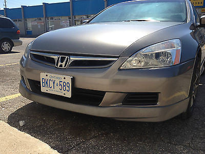 2006 2007 HONDA ACCORD SEDAN ASPEC OEM HFP STYLE FRONT LIP BODY KIT
