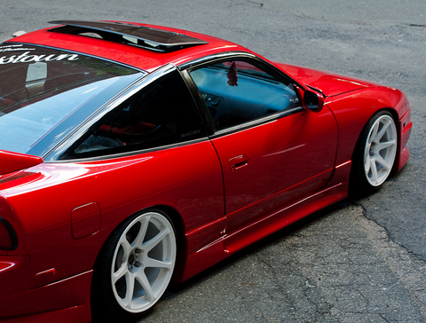1989 1990 1991 1992 1993 NISSAN 240SX 180SX GP STYLE SIDE SKIRT BODY KIT #AEROW900018