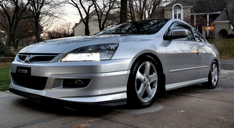 2006 2007 HONDA ACCORD COUPE ASPEC HFP STYLE FRONT LIP