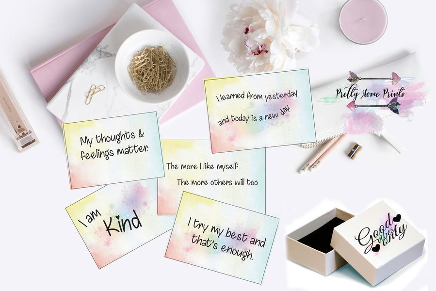 Good Vibes Only - Affirmation cards for young women