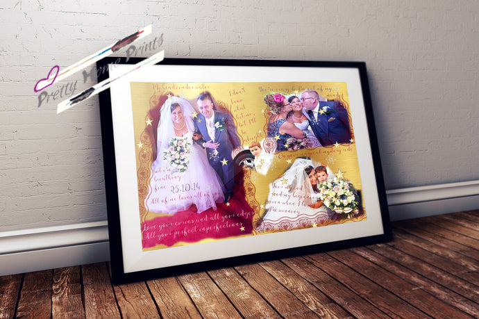 Personalised Wedding Poster
