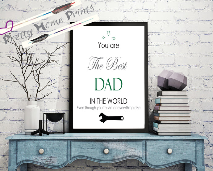 Abusive humour Best Dad explicit ,Fathers  gift print