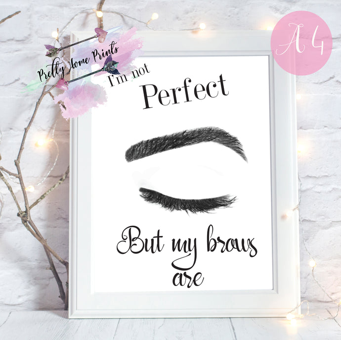 Perfect Brows Print