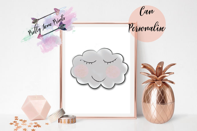 Nursery decor Cloud print