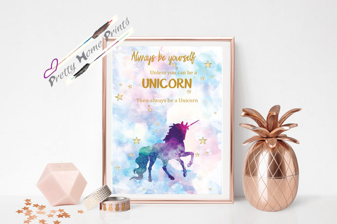 Colourful unicorn print