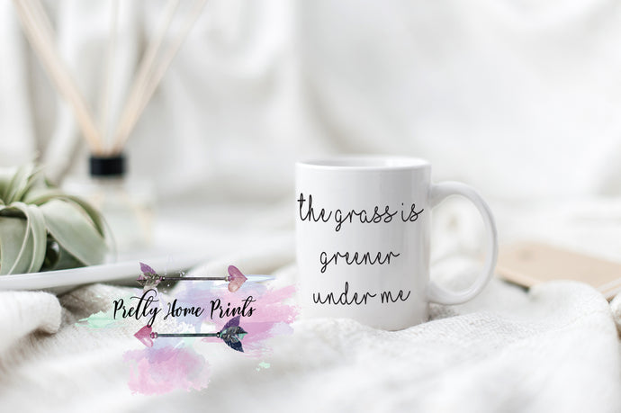 Grass is greener Mug