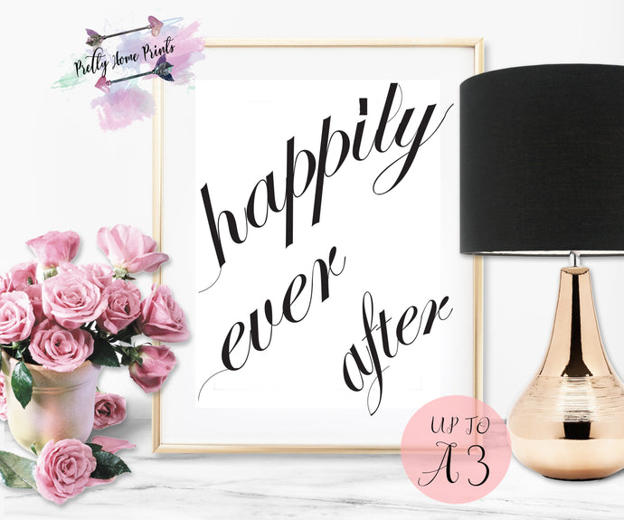 Happily Ever After Side brushstroke print