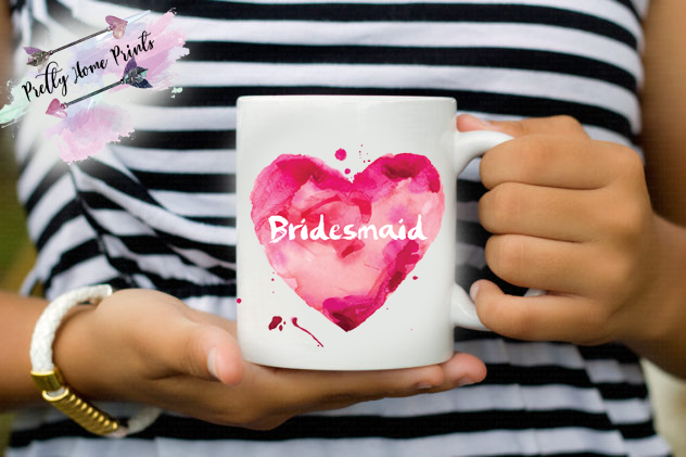 Mug bridesmaid heart