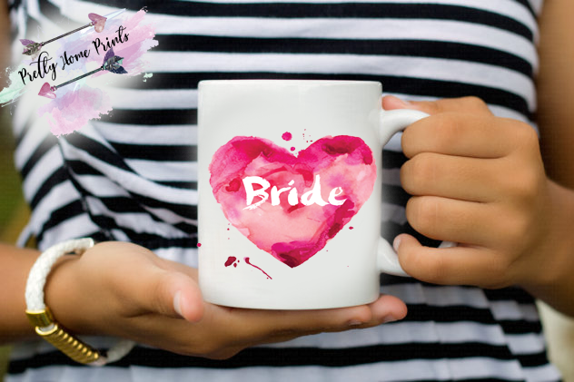Luxury gift Mug Bride heart