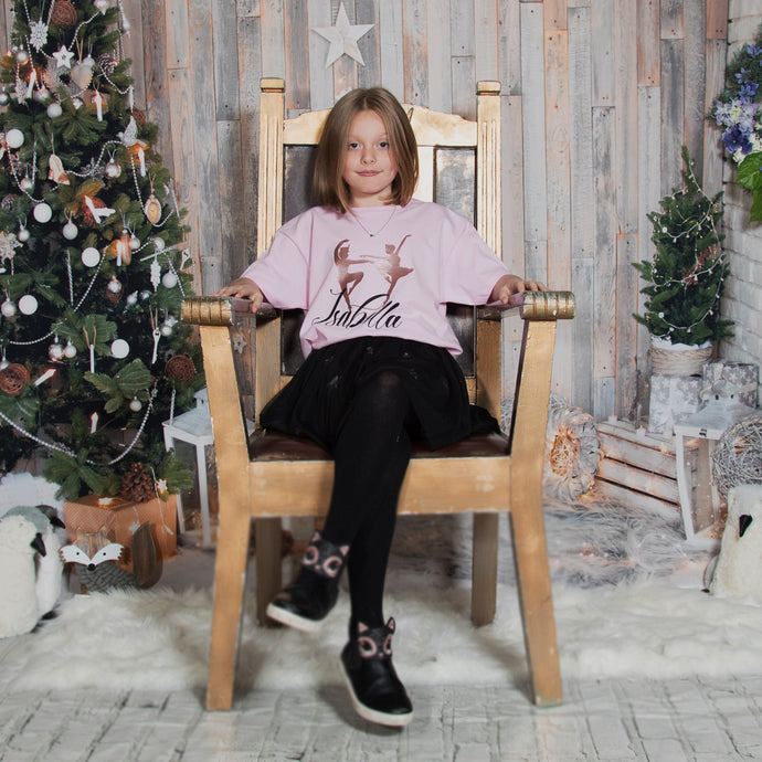 Personalised Nutcracker and suger plum fairy  Christmas Tshirt