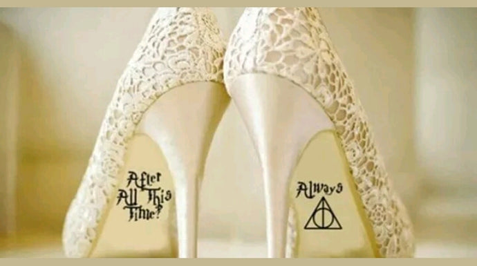Harry P wedding shoe decals